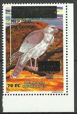 Congo Zaire Wildlife Raptor Dark Goshawk Birds of Prey ** 1996 Unknowed Ovpt