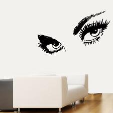 Wall Decals Girl Vinyl Sticker Eyes Decal Make Up Hair Beauty Salon Decor kk166