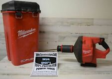 Milwaukee M18 FUEL 18 Volt Drain Cleaning Snake Auger 5/16 Cable Drive Tool Only