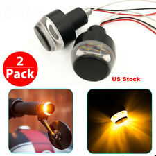 2pc Motorcycle Turn Signal LED Light Indicator Blinker Handle Bar End Handlebar