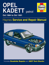 3196 Haynes Opel Kadett Petrol (Oct 1984 - Oct 1991) Workshop Manual