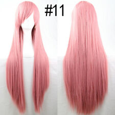80cm Women Wigs Long Straight Cosplay Fashion Colors Wig Heat Resistant 18 Color