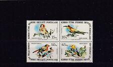 TURKISH CYPRIOT POSTS - SG140-143 MNH 1983 BIRDS OF CYPRUS