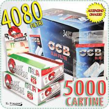 4080 Filtri OCB SLIM 6mm + 5000 Cartine ENJOY FREEDOM ITALIA CORTE 100 Libretti