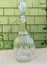 Early Antique Mold Blown Glass Decanter Open Pontil Prussian Boston Sandwich