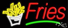 "Brand New ""Fries"" 32x13 W/Logo & Underlined Neon Sign w/Custom Options 10799"