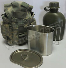 G.I. TYPE, U.S made 1 QT CANTEEN WITH NEW STAINLESS STEEL CUP AND LID KIT.