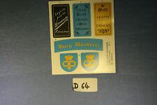 (D64) Playmobil stickers enseigne médiévale  3666 3442 3445 3455 3688 3665