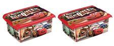 2 X Coffre à Jouets Boîte Fashion-Box Disney Cars 10 L