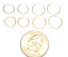 14KT WHITE/YELLOW GOLD-SIZES 10 or 12MM ENDLESS WIRE HOOP EARRINGS FREE SHIPPING