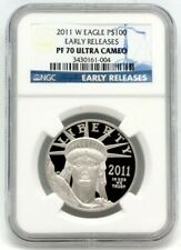 2011-W Platinum Eagle $100 Proof NGC Early Releases PF70 Perfect
