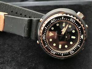 !!RARE! Seiko 50th Anniversary Marinemaster 1000m Emperor Tuna Rose Gold SBDX014