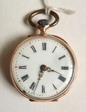 Montre à gousset col  OR massif 19e siècle gold pocket watch fonctionne