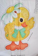 Vintage Springs Mills Fabric Panel 7572 DUCK Pillow Doll Cut Sew Craft Easter
