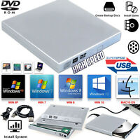 Laptop USB To SATA CD DVD Combo RW Rom External Drive Case Cover Caddy Enclosure