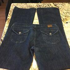 Lucky Brand Dungaree Women's Long Inseam Flap Pockets Jeans Sz 8/29