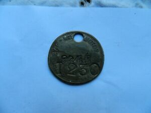 Armstrong Siddeley Motor Company Factory brass identification Tag