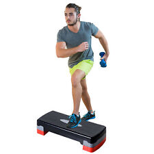 """27"""" Aerobic Stepper Adjustable Workout Platform Fitness Step Trainer with Riser"""