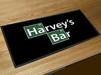 Personalised With Any Name Breaking Bad Elements beer label bar runner Beer mat
