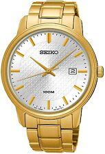 SEIKO SUR198P1 Neo Clásico Fecha Esfera Blanca WR 100m 2 años de garantía RRP £ 239.00