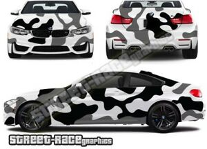 FULL Car camouflage 013 urban camo graphics stickers decals fits med/lge cars