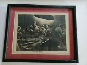 """Robert Riggs """"Accident Ward"""" 1942 pencil signed/titled thru Smith, Cline & Frenc"""