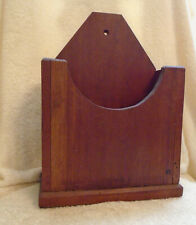 Vintage Primitive Heavy Wood Candle Wall Box 9 Inches By 12 Inches