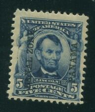 United States Possessions, Canal Zone, Scott#6, 5-Cent, Lincoln, Lh