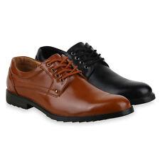Herren Business Klassische Schnürer Profilsohle Halbschuhe 825314 Schuhe