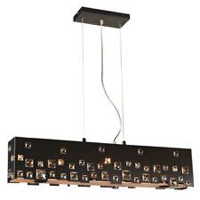 PLC Lighting 5 Light Pendant Twilight Collection, Black - 81397BK