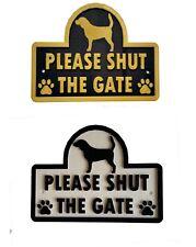 Beagle - Please Shut The Gate - 3D Dog Plaque - House Garden Door Wall Sign