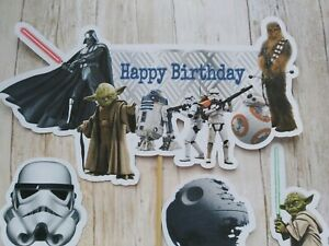 Star Wars Cake Banner & Topper set Birthday party cake Decorations