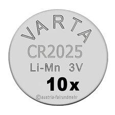 """""""10x CR2025 Lithium Batterie Knopfzellen 3Volt VARTA"""