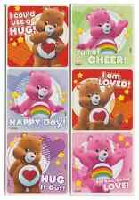 """30 Care Bears Love and Cheer Stickers, 2.5"""" x 2.5"""" each, Party Favors"""