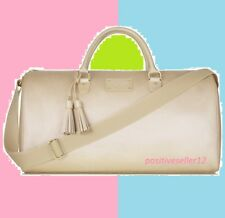 Michael KORS Glam On the Go Weekender Hand Bag duffle faux leather weekend gold