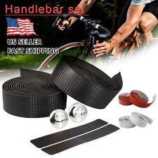 2PCs Cycling Road Bike Bicycle Handlebar Tape Rubber Handle Bar Wrap Non-slip