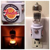 Vacuum Tube Amber Glow LED Night Light with Valve from Fender Guitar Amplifier