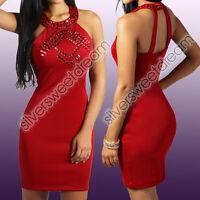 Vestito ABITINO RHINESTONES STRASS PARTY SEXY donna TUBINO FASCIA WOMAN SERA NEW