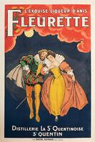Affiche Originale - L'exquise Liqueur d'Anis Fleurette - Henry IV - 1925