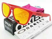 NEW Oakley Frogskins sunglasses B1B Grips Red Fire Iridium 9013-48 AUTHENTIC NIB