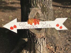 Handmade Pumpkin Patch Wood Autumn Sign Rustic Farmhouse Decor