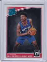 2018-19 Donruss OpticRated Rookies #162 Shai Gilgeous-Alexander Rookie Card RC