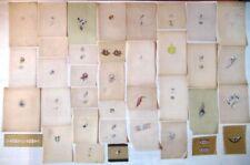 lot de 37 belles créations de bijoux anciens sur calque réhaussées à la gouache