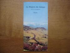 Dépliant brochure touristique SUISSE REGION LEMAN LAC SCHWEIZ SWITZERLAND