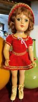 """Vintage 14"""" Composition Mary Hoyer Doll W/Box"""