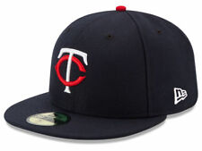 New Era Minnesota Twins HOME 59Fifty Fitted Hat (Navy) MLB Cap