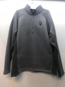 Spyder Mens Core Sweater Steel Black Size XXL NEW
