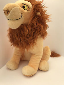 The Lion King- Mufasa/ Simba- Large Soft Toy Disney Store Good Condition 18''