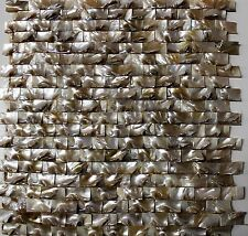 OYSTER CROWN - mother of pearl mosaic shell tile bar wall kitchen ceiling tiles