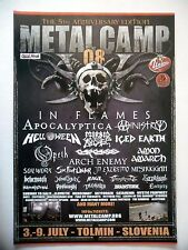 PUBLICITE-ADVERTISING :  METAL CAMP 2008  2008 In Flames,Apocalyptica,Ministry